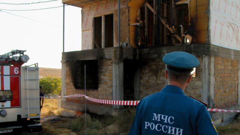 В Севастополе произошел пожар в недостроенном доме, есть погибший (+фото)