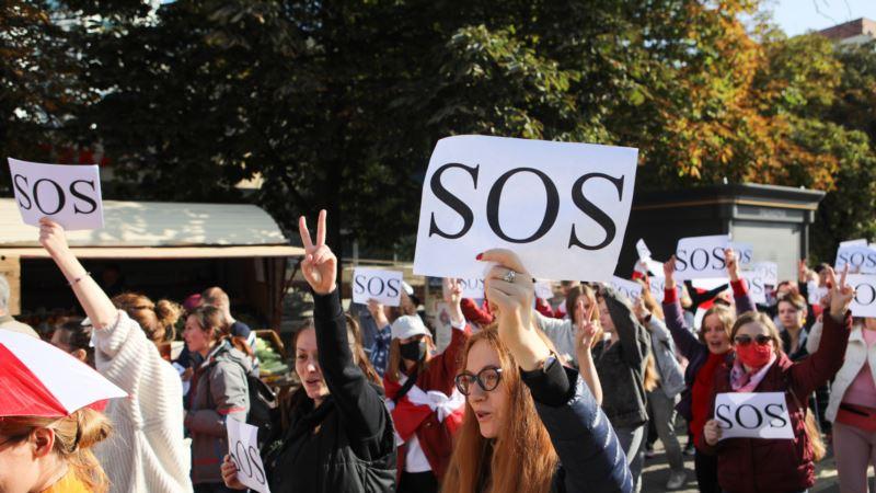 В Минске проходит женский марш солидарности