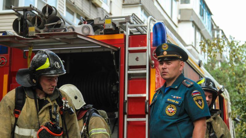 В Евпатории сгорело кафе – спасатели
