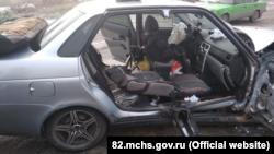 На трассе под Симферополем произошло ДТП, пострадала женщина – спасатели (+фото)