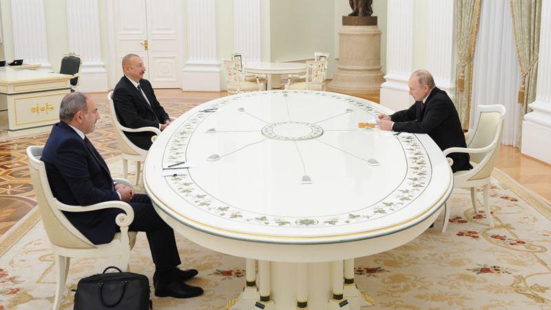 Лидеры Азербайджана, Армении и России провели переговоры в Москве