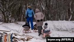 Ангарский перевал в Крыму засыпало снегом (+фото)