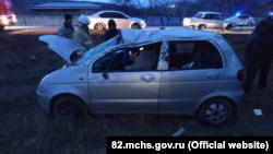 Под Старым Крымом произошло ДТП, пострадало два человека – спасатели (+фото)