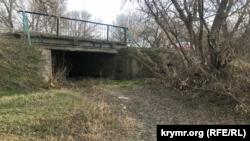 Река Сарысу в Белогорском районе, февраль 2021 года