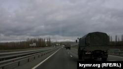 Российская военная техника на трассе «Таврида», 24 марта 2021