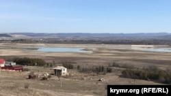 Вид на Тайганское водохранилище, 12 марта 2021 года