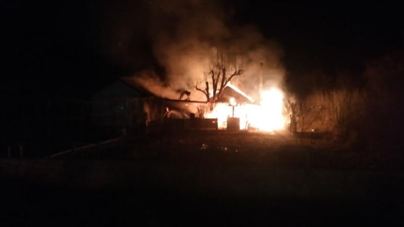 В Симферополе горел дом площадью 130 квадратных метров – спасатели