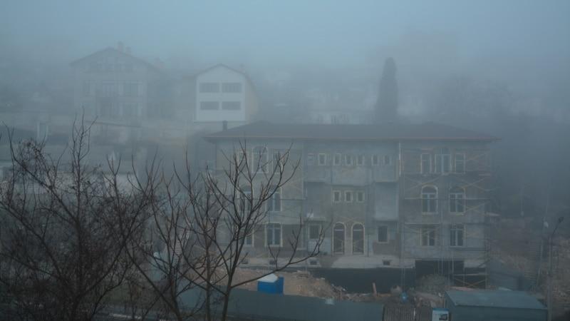 Погода в Крыму: мокрый снег и туман