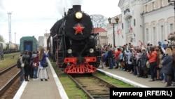 На «Поезд Победы» в Севастополе пускают только после тройного контроля (+фото)