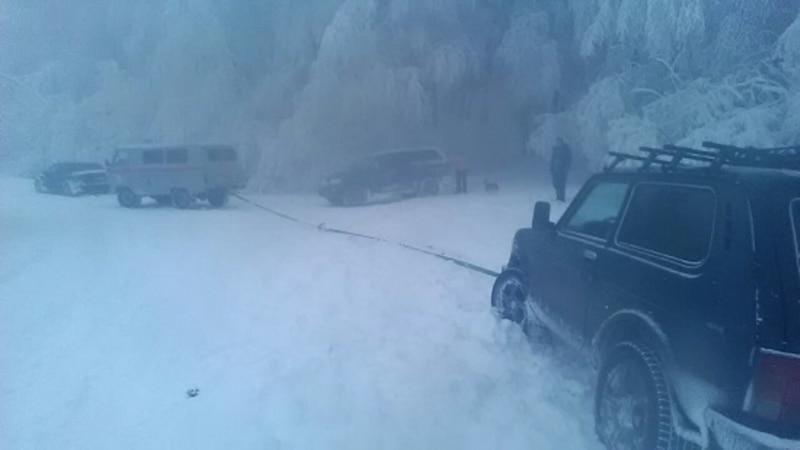 На Ай-Петри в снежном заносе застряли больше десяти человек – спасатели